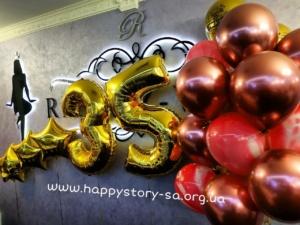 """Гелиевые шары на день рождения в ресторане """"Рандеву"""" г. Макеевка"""