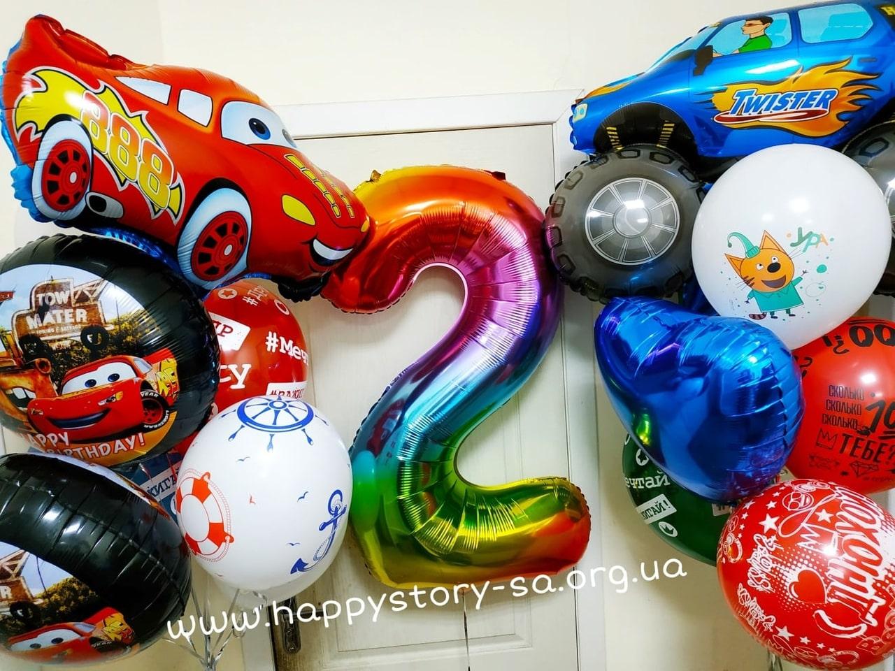 Микс из гелиевых шаров на детский праздник