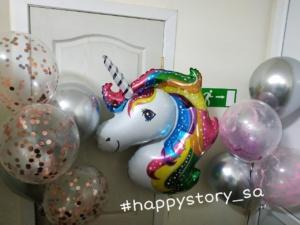 Гелиевы шары на детский праздник в стиле #unicorn