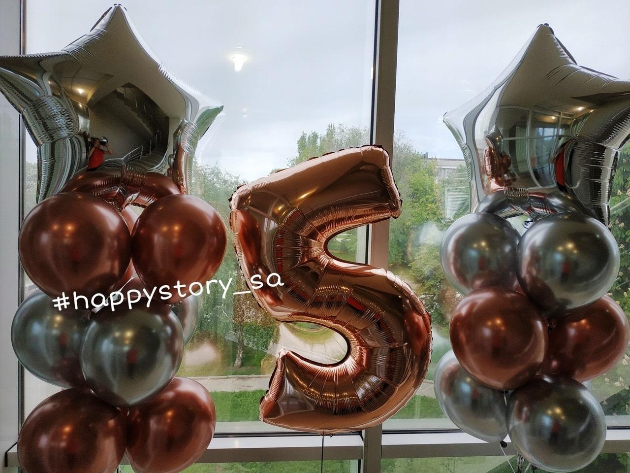 Хромовые шары на день рождения