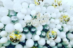 Фотозона из воздушных шаров на свадьбу