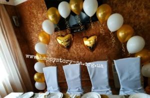 Арка из гелиевых шаров на свадьбу