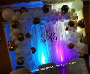 Призидиум из воздушных шаров на свадьбу
