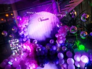 Фотозона из воздушных шаров на день рождения