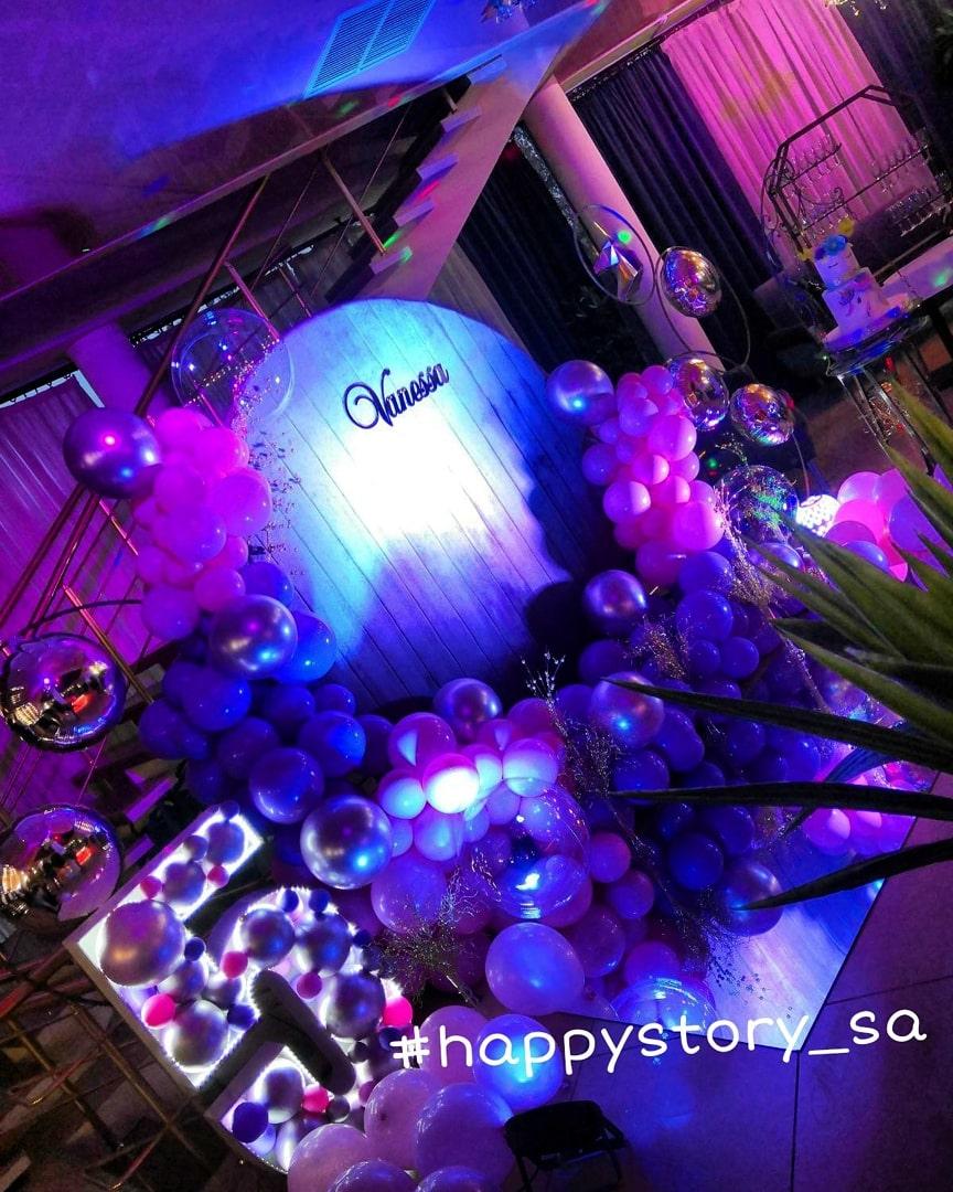 Фотозона из воздушных шаров