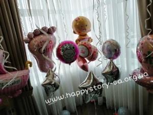 Фольгированные шары на выпску из роддома