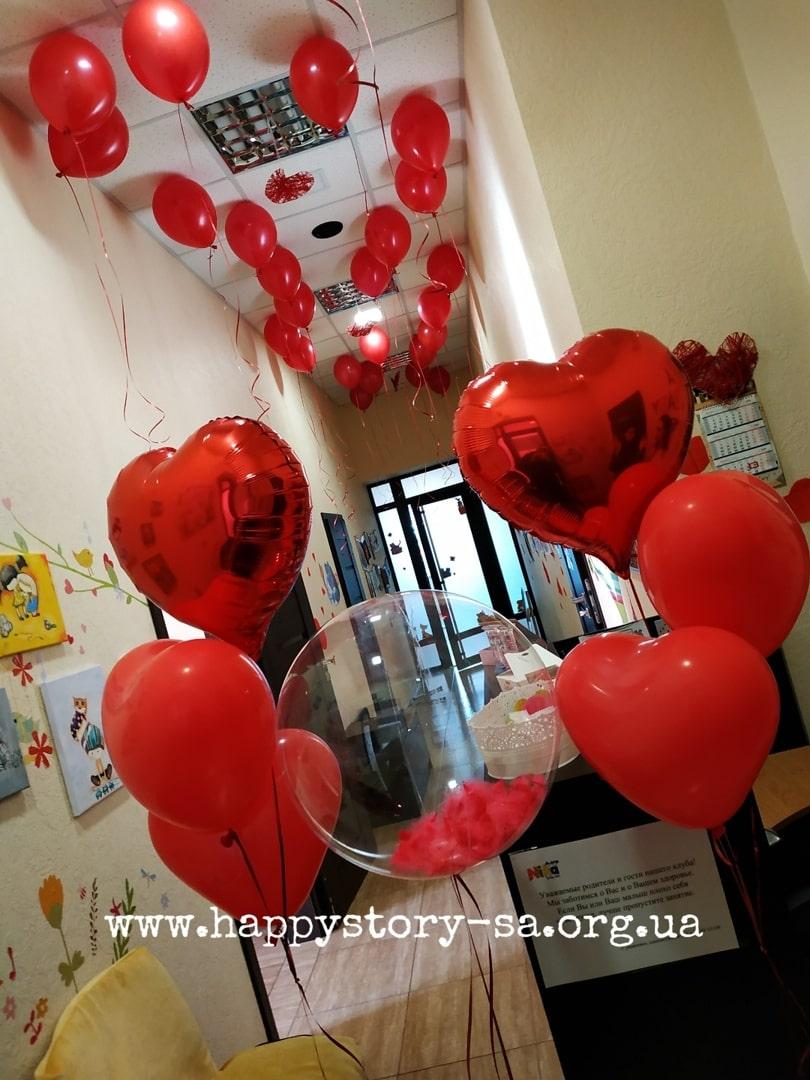 Гелиевые шары на 14 февраля (день влюбленных)