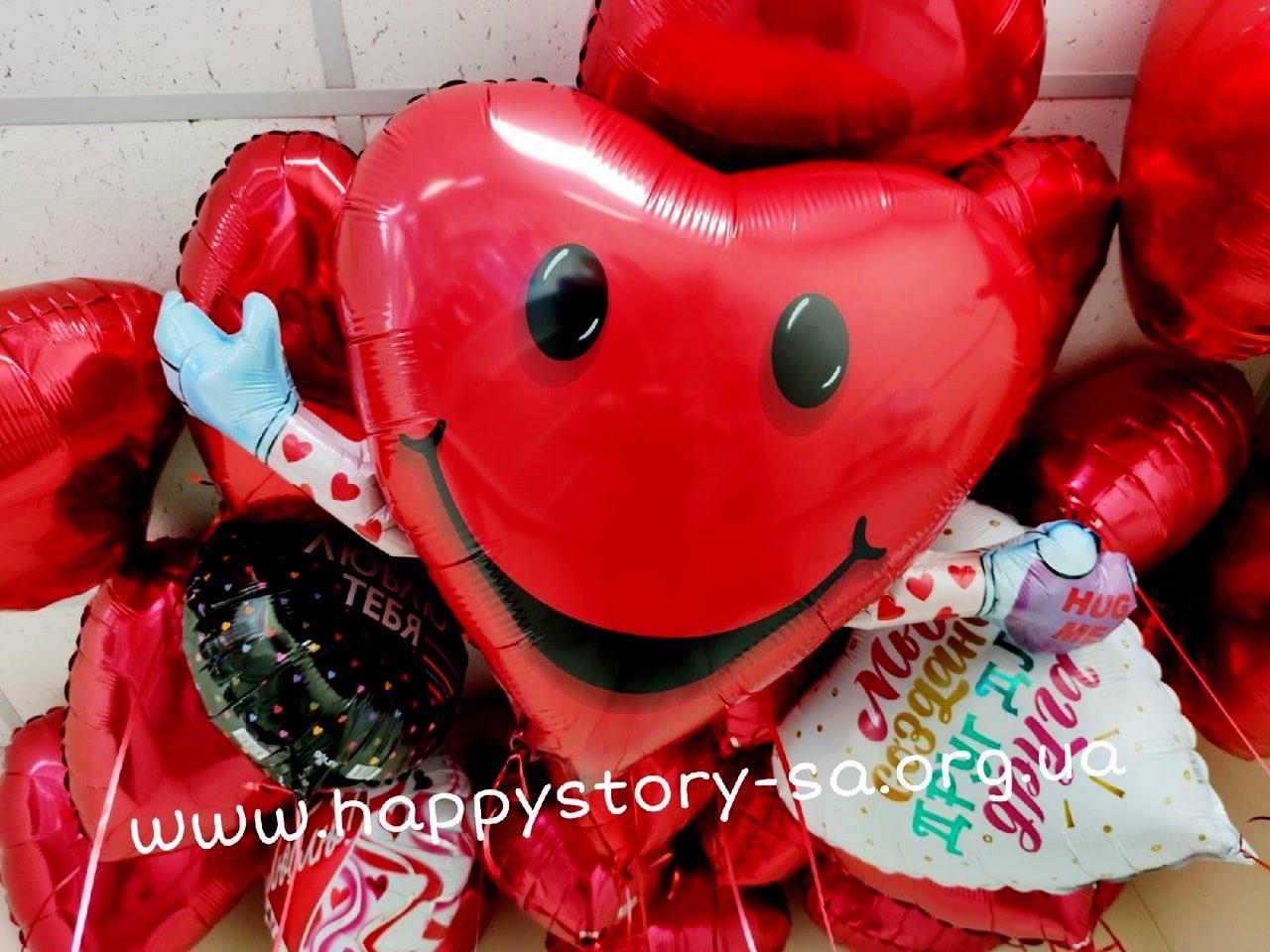 Фольгированные шары на 14 февраля (день влюбленных)