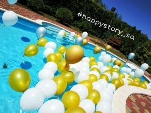 Гелиевые шары в бассейне на праздник