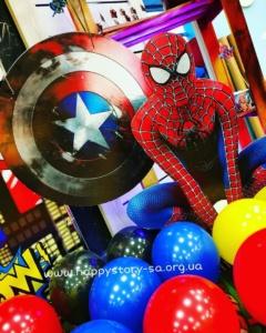 """Декор в стиле """"Marvel"""" на детский праздник"""