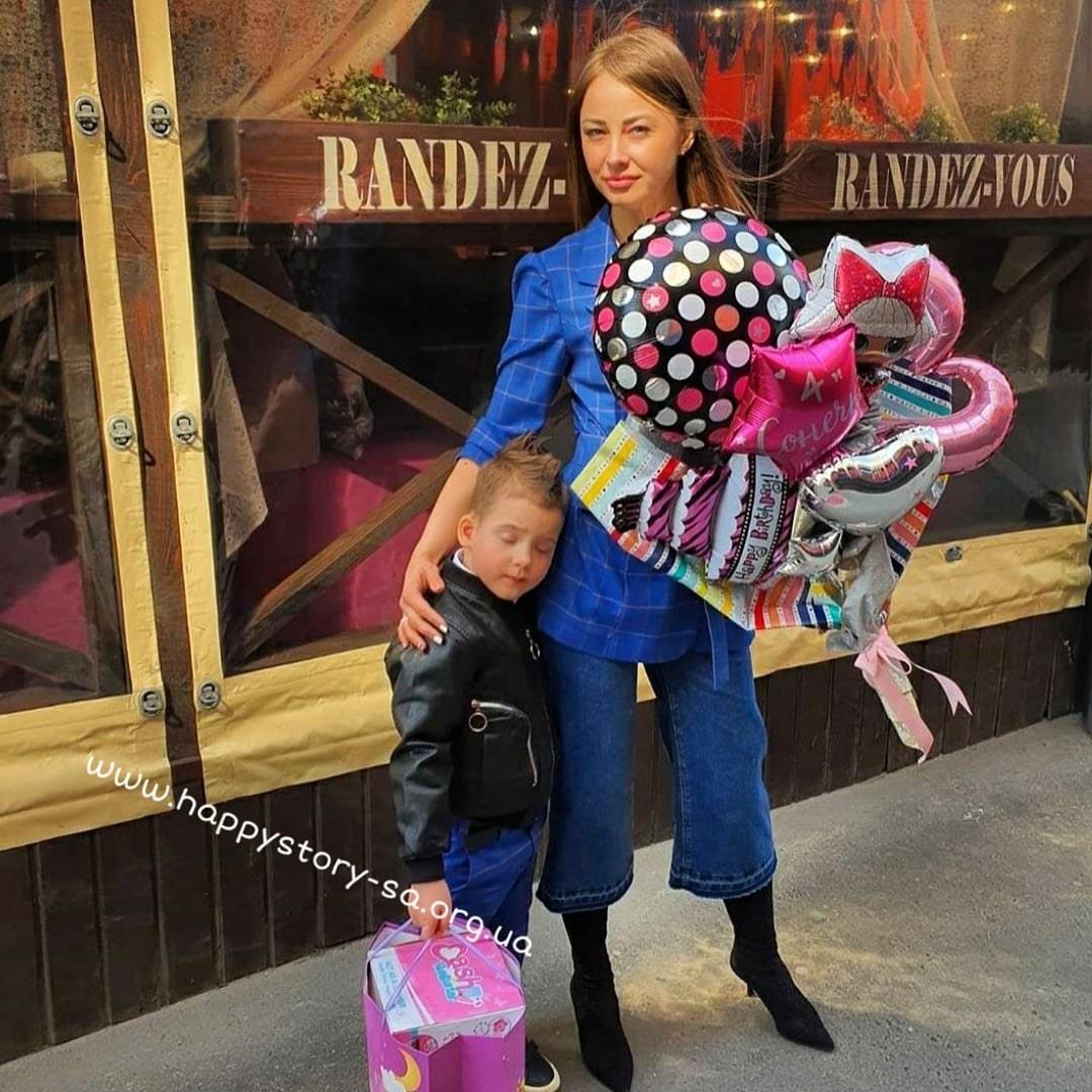"""Крафтовый букет из шаров с доставкой в ресторан """"Рандеву"""". г. Макеевка"""