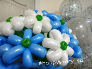 Цветы из воздушных шаров на доставку