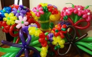 Цветы из шаров на любой праздник