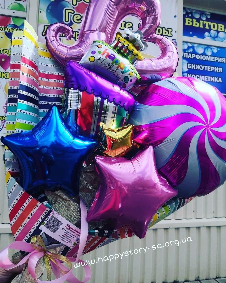 Крафтовый букет из шаров